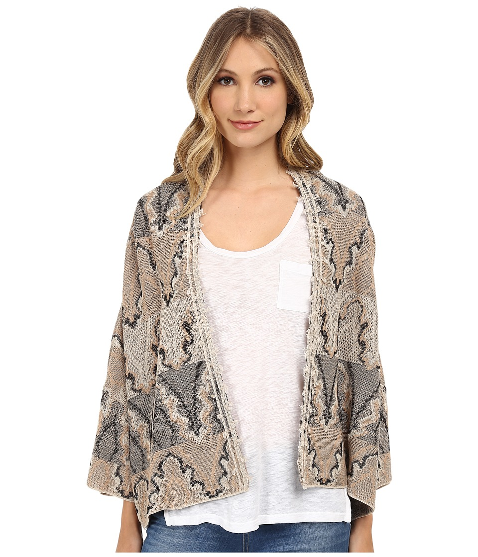 Free People - Butterfly Kimono Cardi (Black Combo) Women