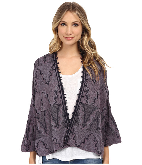 Free People - Butterfly Kimono Cardi (Midnight Combo) Women's Sweater