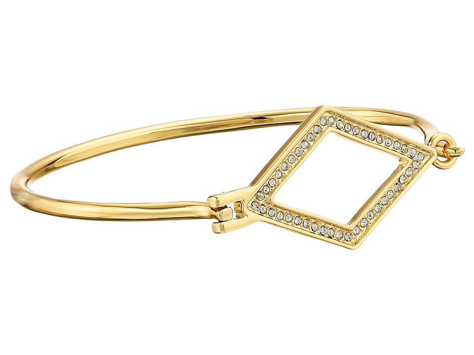 Rebecca Minkoff - Diamond Cutout Bangle (Gold Toned/Crystal) Bracelet