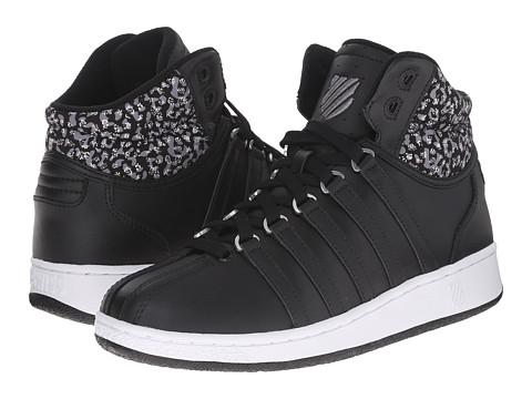 K-Swiss - Classic VN Mid (Black/White/Leopard) Women's Tennis Shoes