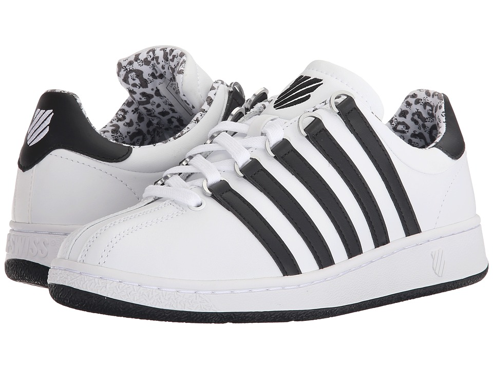 K-Swiss - Classic VN (White/Black/Leopard) Women's Shoes