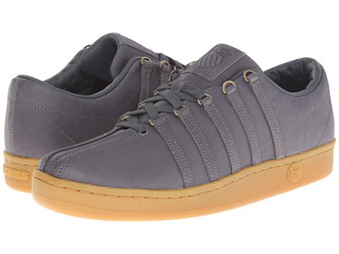 K-Swiss - The Classic (Charcoal/Gum) Men's Tennis Shoes