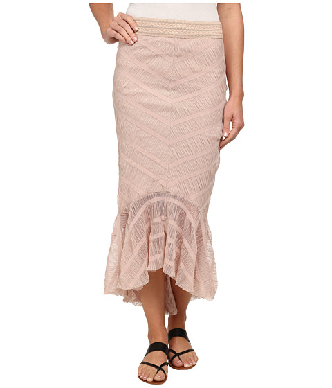 Free People - Stripe Mesh Trumpette Tutu Skirt (Nude Pink) Women