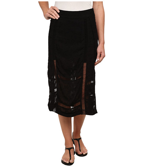 Free People - Solid Jacquard Love Will Save You Skirt (Black) Women
