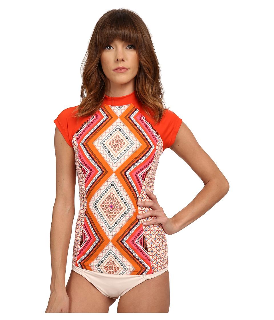 Rip Curl - Topanga Rashguard (Vanilla) Women's Swimwear