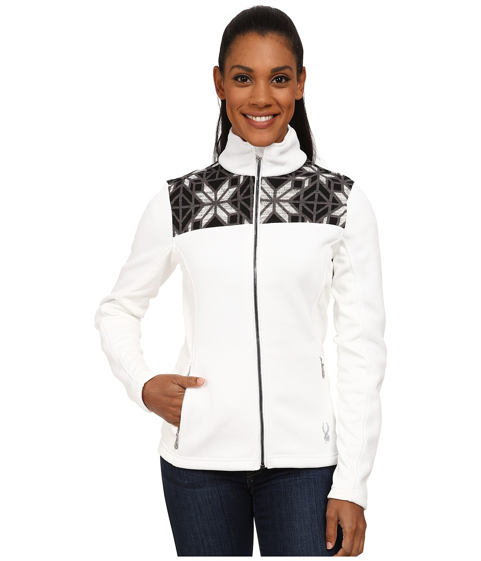 Spyder - Criss Mid Weight Core Sweater (White/Black/Image Gray) Women's Sweater