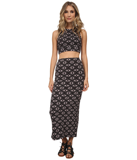 Free People - So So Textured Havana Set (Black Combo) Women's Active Sets