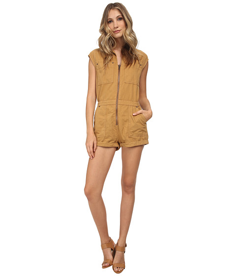 Free People - Parachute Romper (Amber) Women