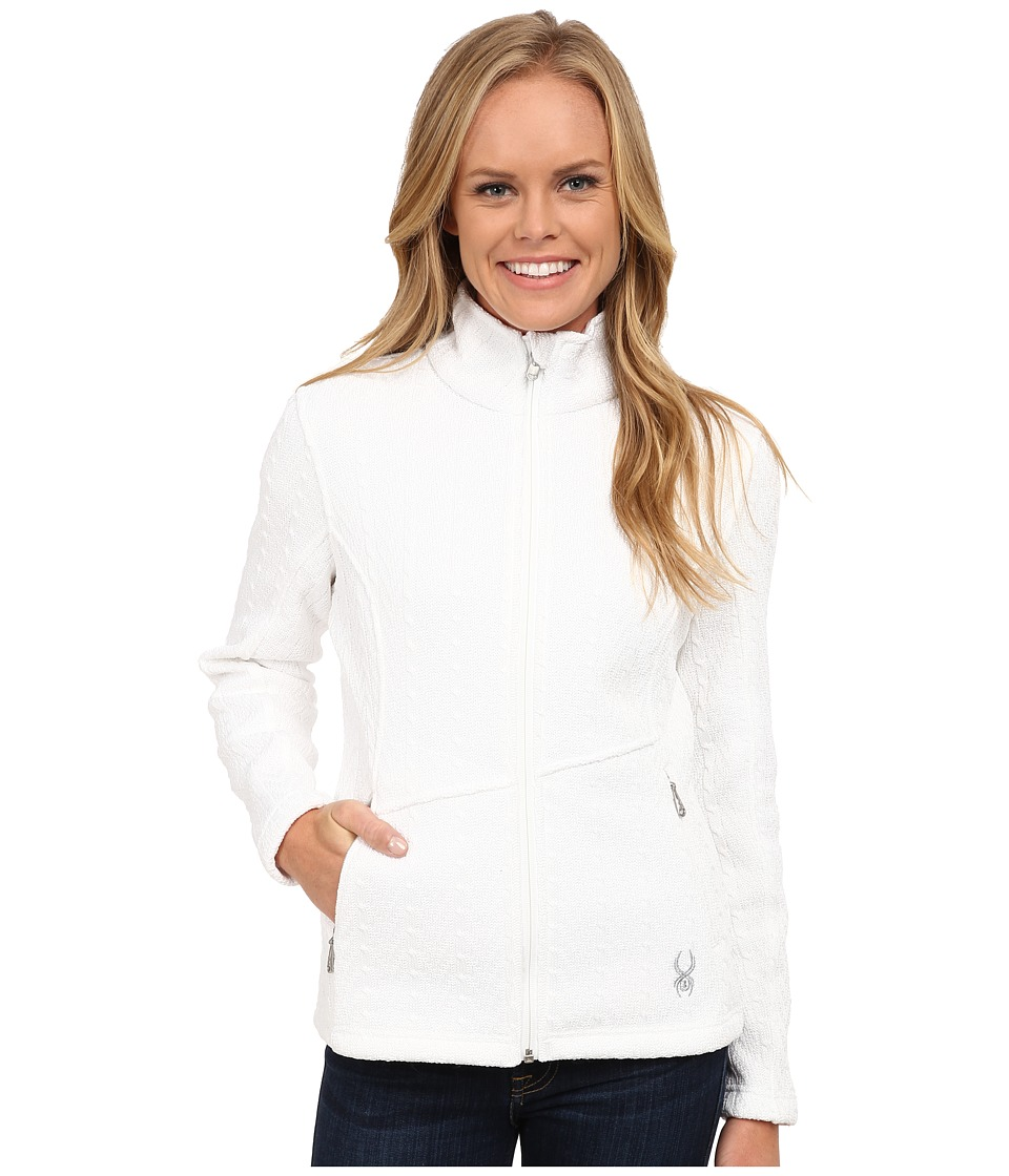 Spyder - Major Cable Core Sweater (White) Women's Sweater