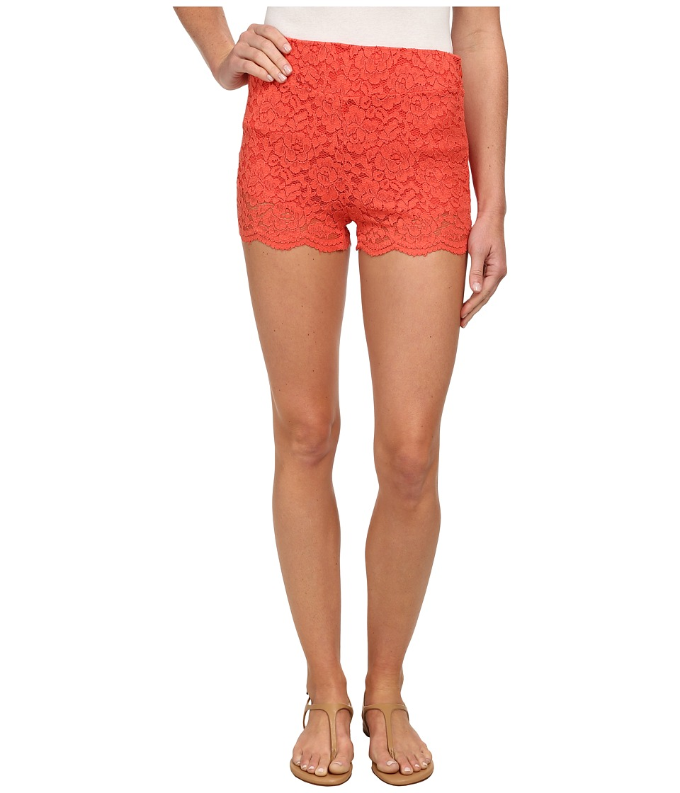 Free People - Floral Lace Biker Shorts (Dragon Fruit) Women