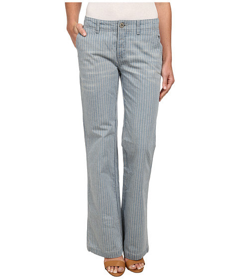 Free People - Railroad Stripe Flare Jeans (Solar Blue) Women