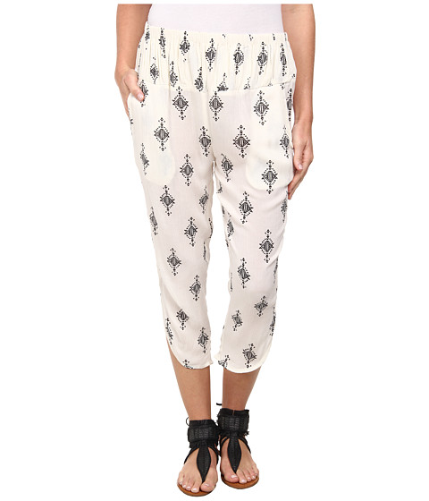 Free People - Printed Rayon Gauze Diamond Harem Pant (Tea Combo) Women's Casual Pants
