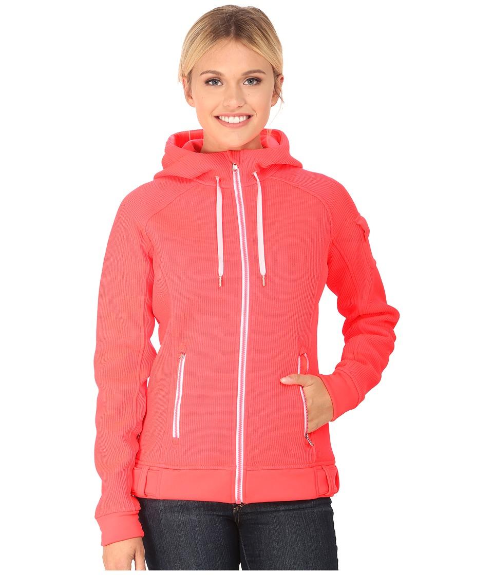 Spyder - Ardent Full Zip Hoodie Mid Weight Core Sweater (Bryte Pink/White) Women's Sweatshirt