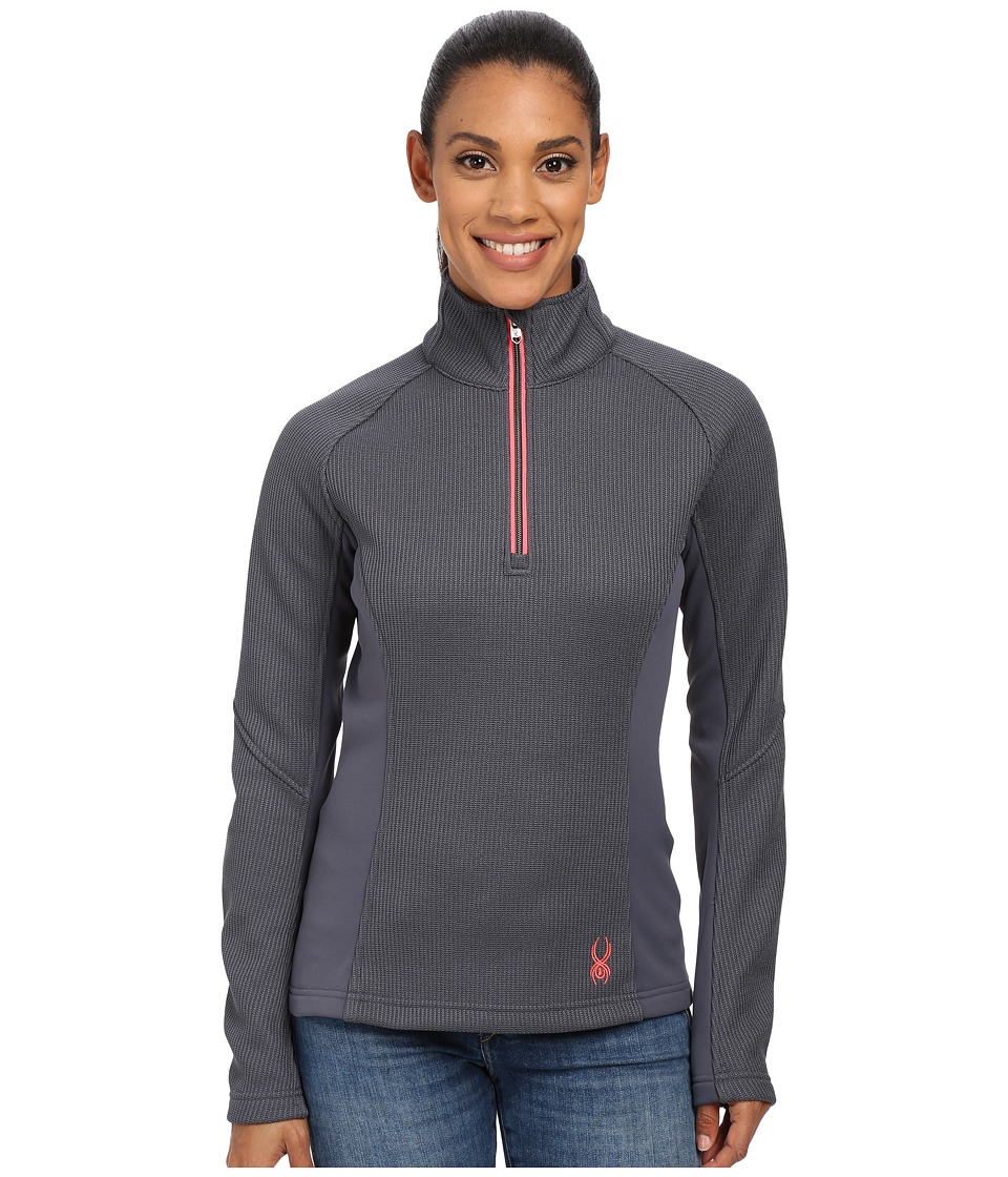 Spyder - Valor Half Zip Mid Weight Core Sweater (Depth/Bryte Pink) Women's Sweater