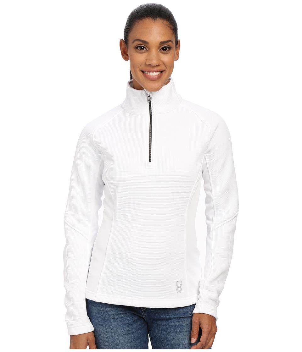 Spyder - Valor Half Zip Mid Weight Core Sweater (White/Silver) Women