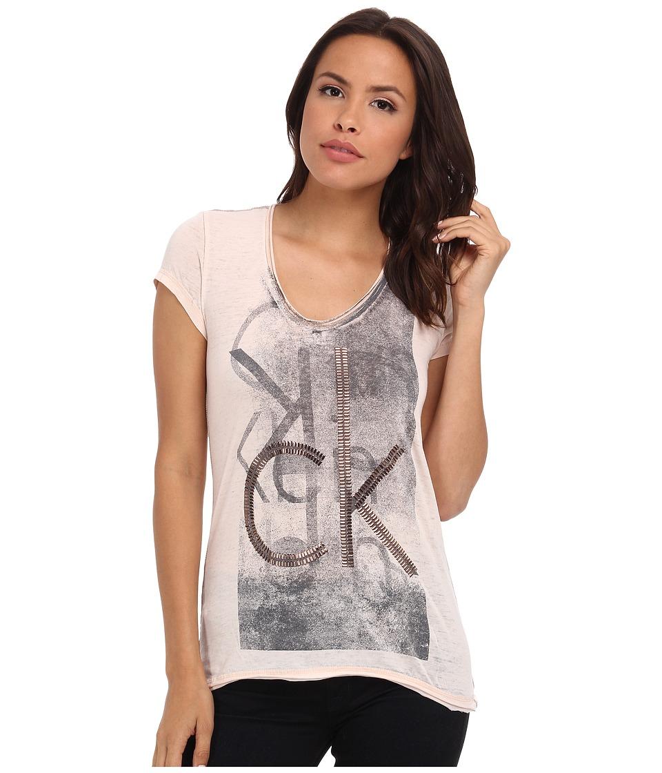 Calvin Klein Jeans - Stud Tee (Peach Whip) Women's T Shirt