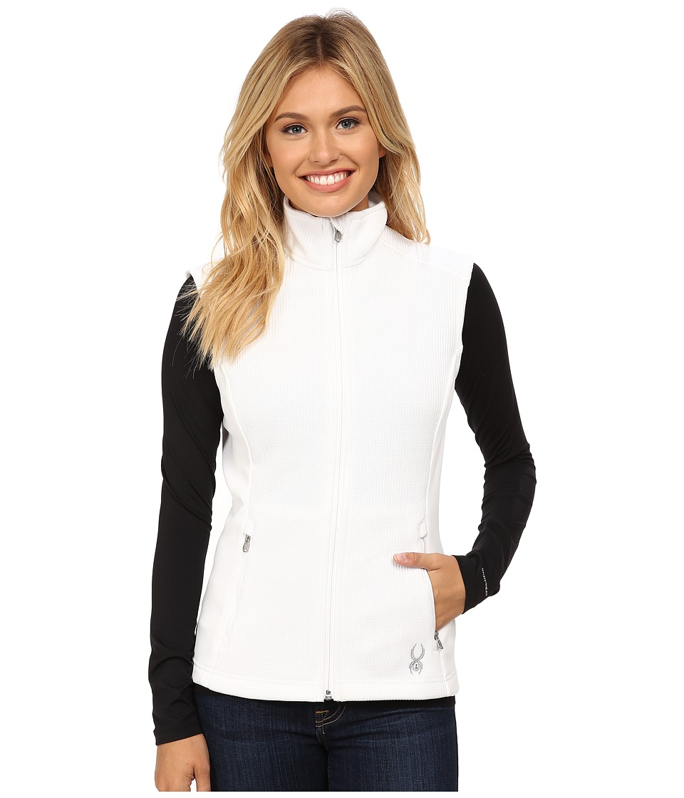 Spyder - Melody Full Zip Mid Weight Core Sweater Vest (White/White) Women