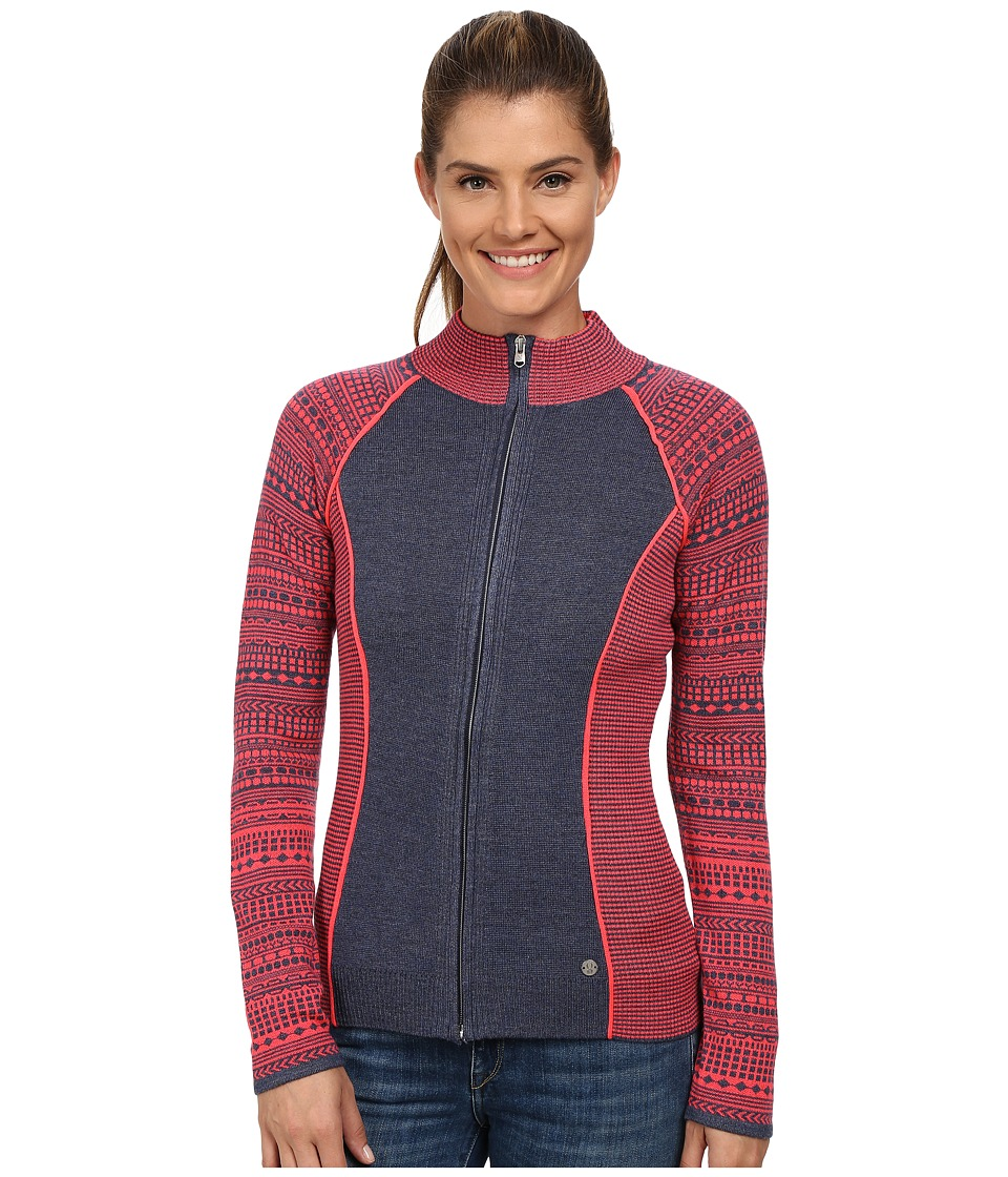 Spyder - Dessa Full Zip Sweater (Depth/Bryte Pink) Women's Sweater