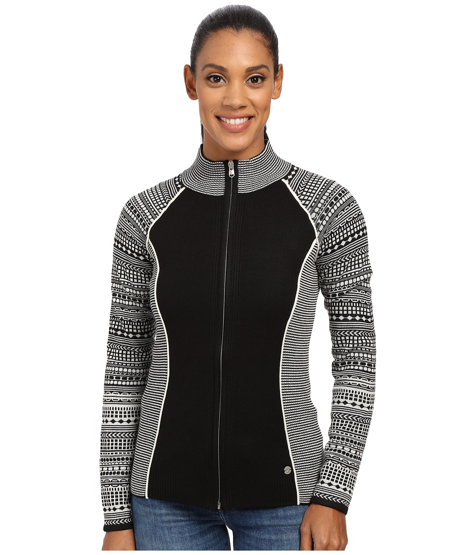 Spyder - Dessa Full Zip Sweater (Black/White) Women