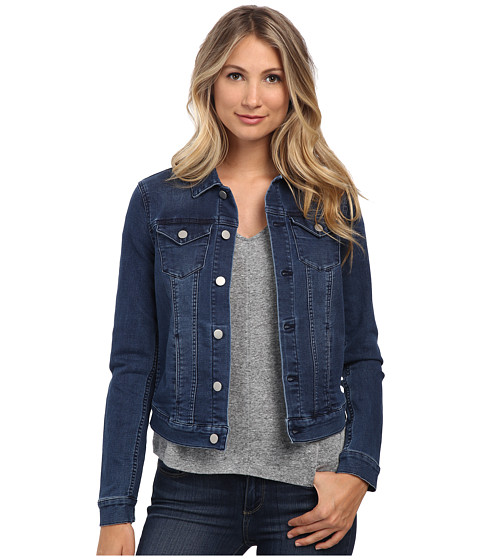Calvin Klein Jeans - Knit Denim Trucker (Jitney Blue) Women's Jacket
