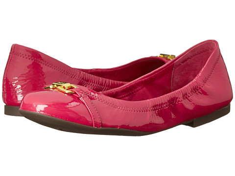LAUREN by Ralph Lauren - Betsy (Rose Crinkle Patent Leather) Women's Slip on Shoes