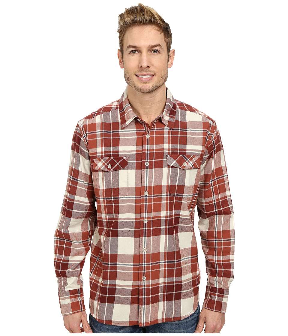 Quiksilver - Walker Lake Long Sleeve Woven Top (Rootbeer) Men's Clothing