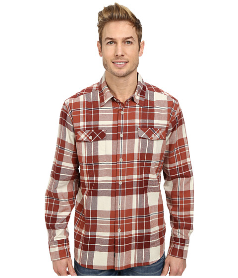 Quiksilver - Walker Lake Long Sleeve Woven Top (Rootbeer) Men