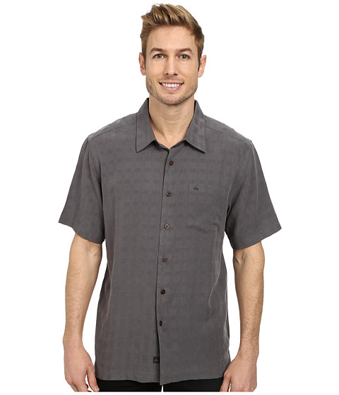 Quiksilver - Whitecliff Short Sleeve Woven Top (Ash) Men's Clothing