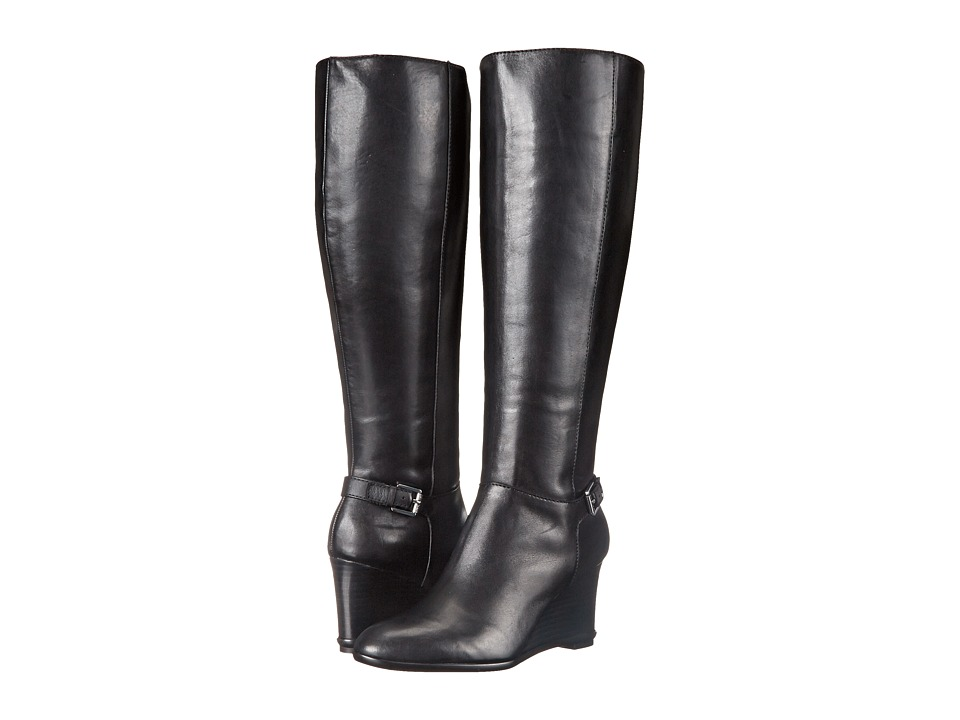 LAUREN Ralph Lauren - Tia (Black Burnished Vachetta) Women's Zip Boots