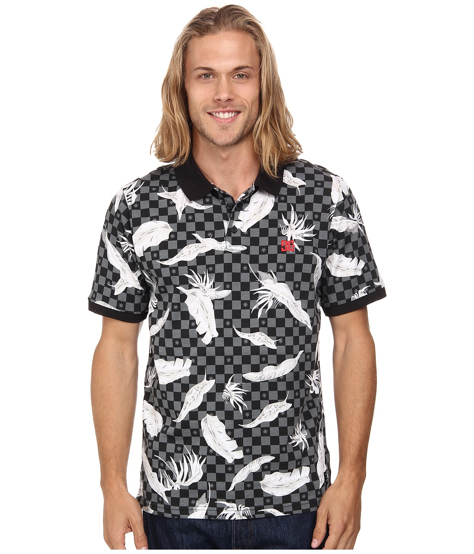 DC - Inglewood Short Sleeve Knit Top (Leafy Check Black) Men
