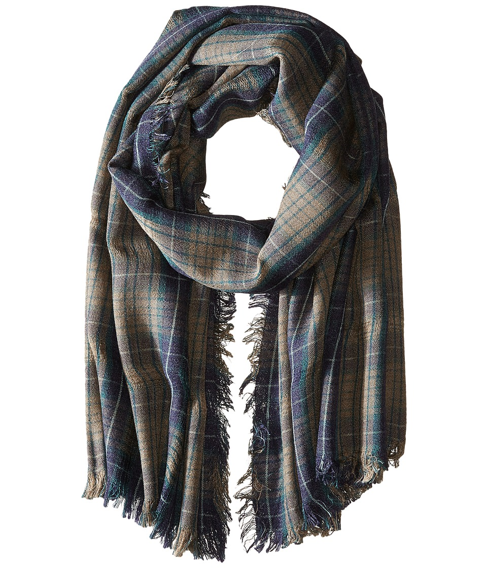 Steve Madden - Missing Check Daywrap (Navy) Scarves