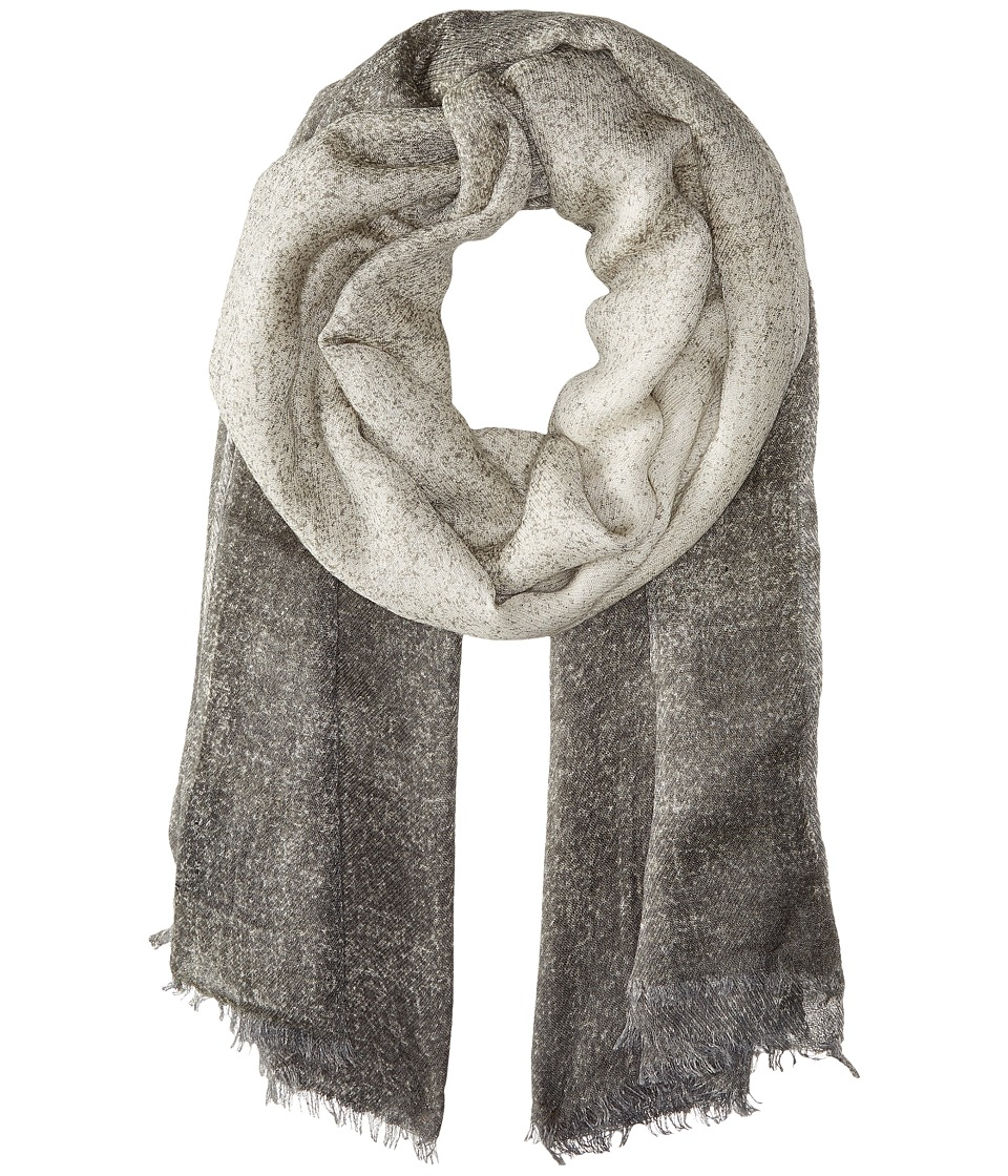 Steve Madden - Textured Ombre Daywrap (Silver) Scarves