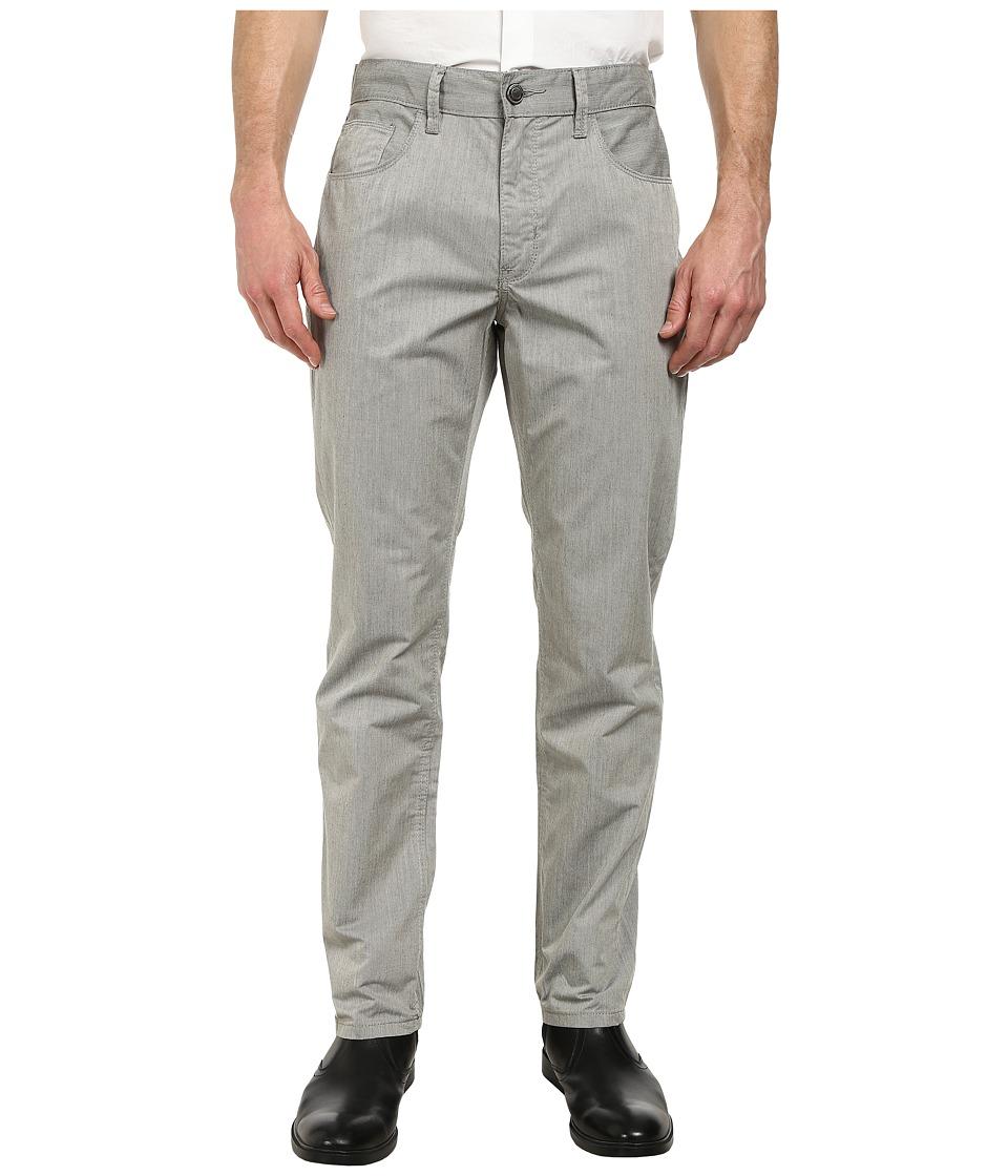 Perry Ellis - Slim Fit Bedford Cord Pants (Gull Grey) Men