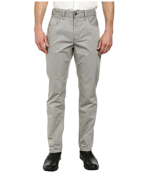 Perry Ellis - Slim Fit Bedford Cord Pants (Gull Grey) Men's Casual Pants
