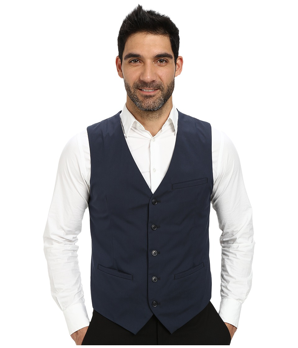 Perry Ellis - Cotton Suit Vest (Navy) Men