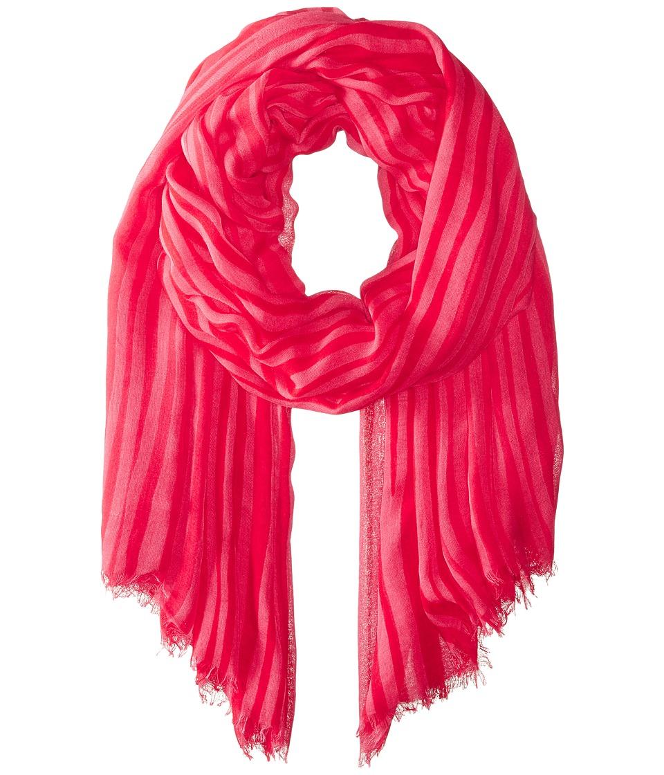 Vera Bradley - Silk Chiffon Scarf (Katalina Pink Stripe) Scarves