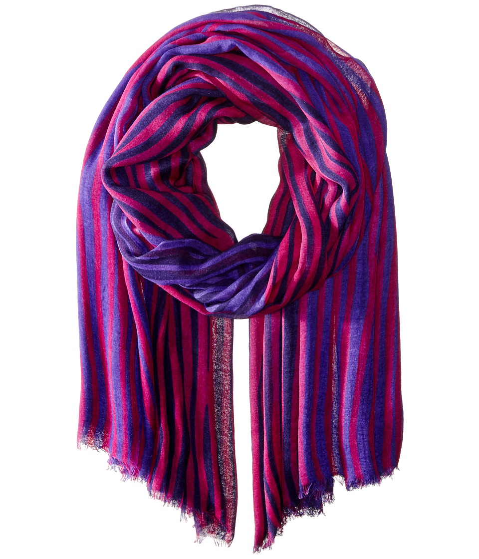 Vera Bradley - Silk Chiffon Scarf (Impressionista Stripe) Scarves