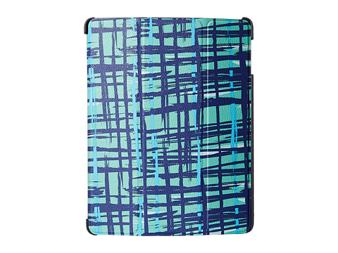 Vera Bradley - iPad 4 Case with Stand (Navy/Teal Art Plaid) Cell Phone Case