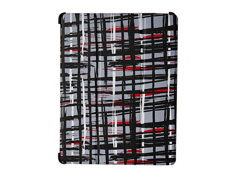 Vera Bradley - iPad 4 Case with Stand (Black/White Art Plaid) Cell Phone Case