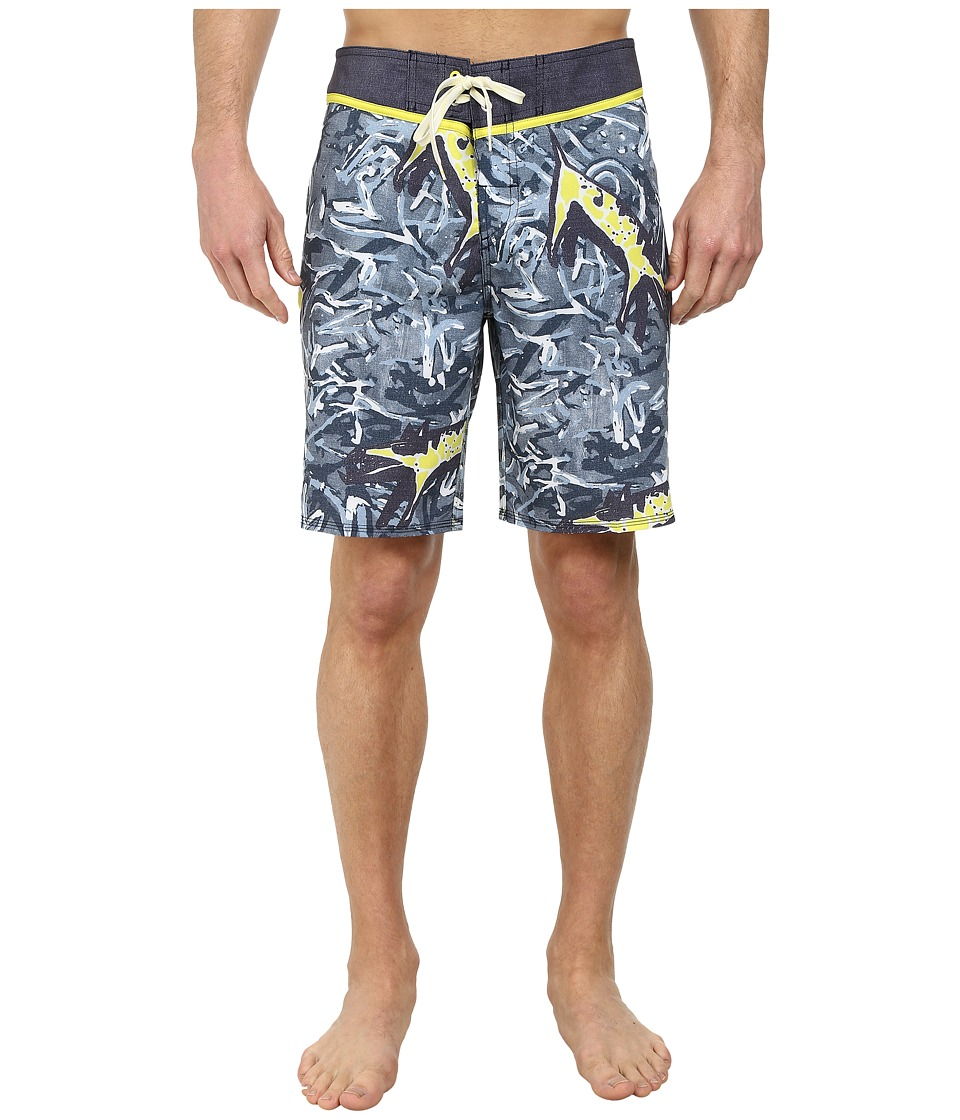 Quiksilver - Ghetto Yoke Boardshorts (Dark Denim Pattern 1) Men's Swimwear