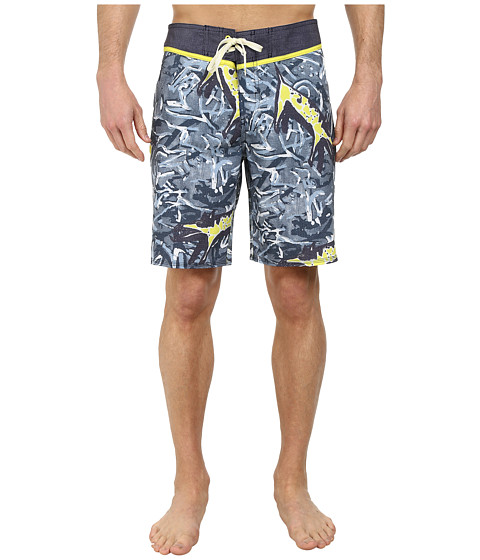 Quiksilver - Ghetto Yoke Boardshorts (Dark Denim Pattern 1) Men