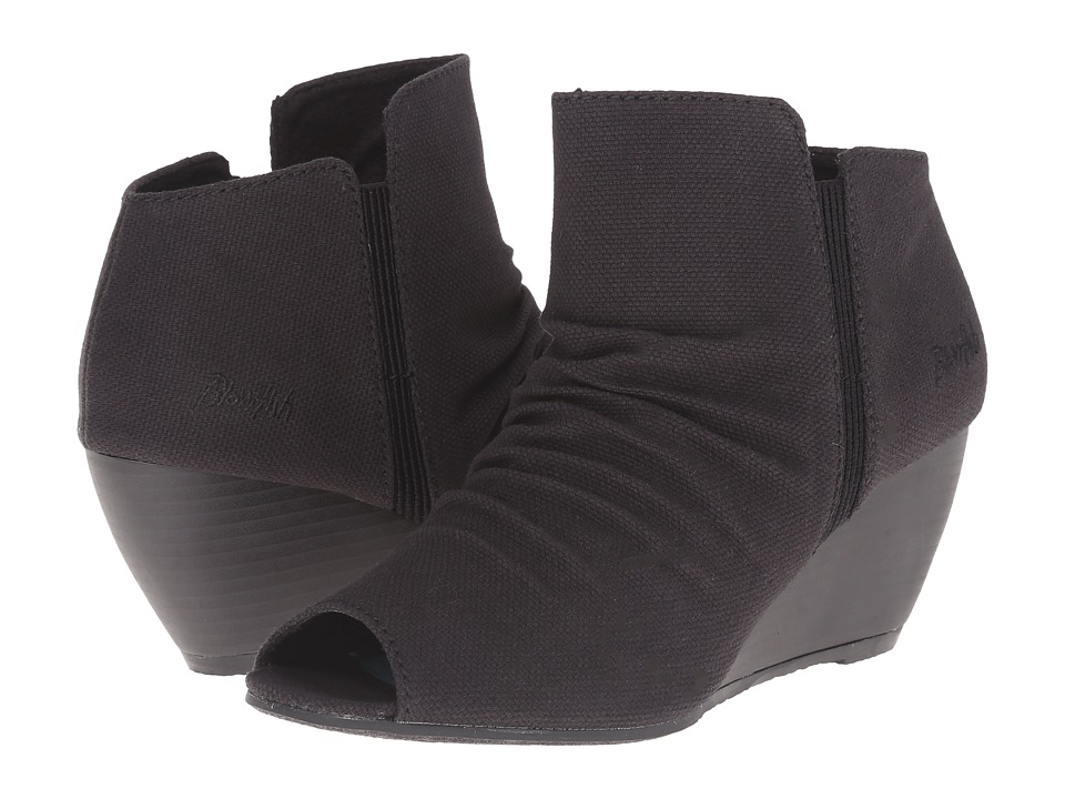 Blowfish - Bip (Black Rancher Canvas) Women's Wedge Shoes