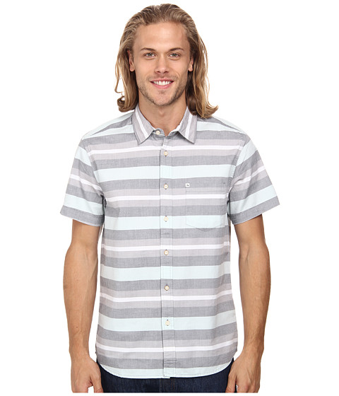 Quiksilver - Pemberton Short Sleeve Woven Top (Pemberton Harbor) Men's Clothing