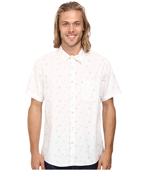 Quiksilver - Hexhum Short Sleeve Woven Top (Hexhum Snow White) Men's Clothing