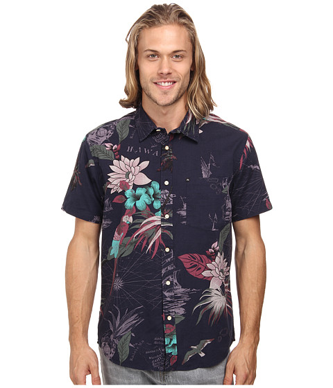 Quiksilver - Deadsea Woven Top (Deadsea Navy) Men's Clothing