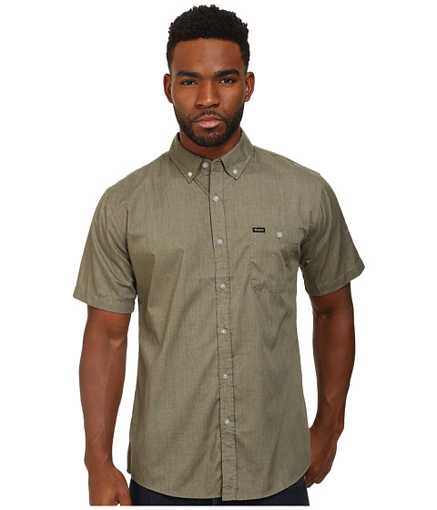 Brixton - Central S/S Woven (Heather Sage 1) Men