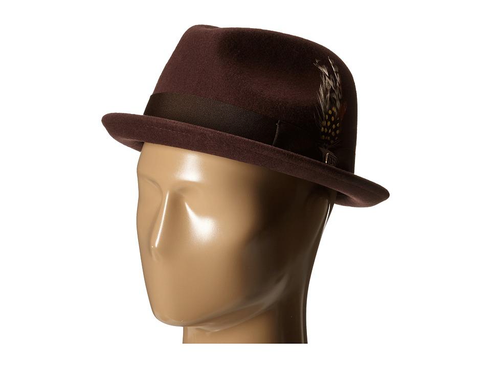 Brixton - Gain (Maroon) Fedora Hats