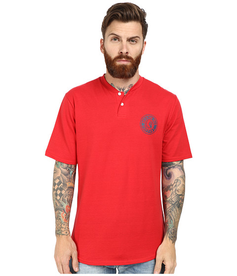 Brixton - Rival Short Sleeve Henley (Red) Men