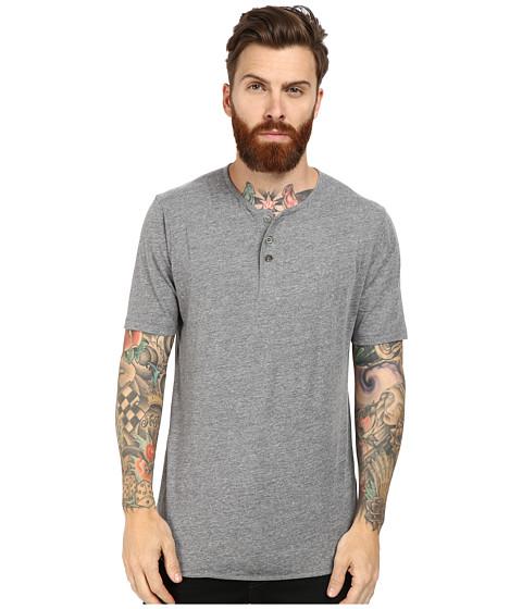 Brixton - Berkeley S/S Henley (Heather Grey) Men's Short Sleeve Pullover