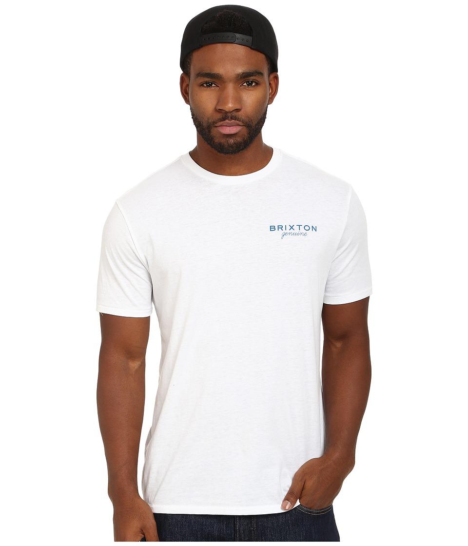 Brixton - Ramsey Short Sleeve Prem Tee (White) Men's T Shirt